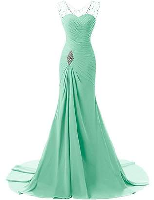 Lily Wedding Womens Beaded Mermaid Prom Bridesmaid Dress 201 Long Evening Formal Party Ball Gowns FED003