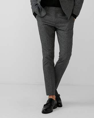 Express Extra Slim Gray Donegal Wool-Blend Suit Pant