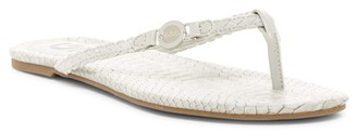 G by GUESS Brayden Snake Embossed Flip Flop $29 thestylecure.com