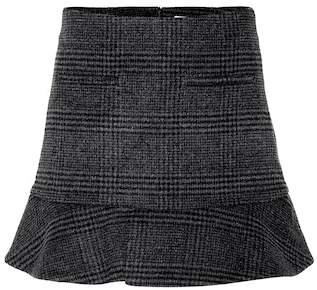 Ganni Woodside wool-blend miniskirt
