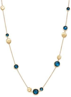"Marco Bicego 18K Yellow Gold Jaipur London Blue Topaz Collar Necklace, 16"""