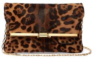 Bienen Davis Bienen-davis - Pm Leopard Print Calf Hair Folded Clutch - Womens - Leopard