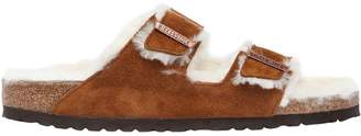 Birkenstock Arizona Shearling & Suede Slide Sandals