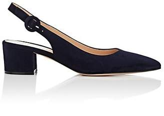 Gianvito Rossi Women's Suede Slingback Pumps - Navy