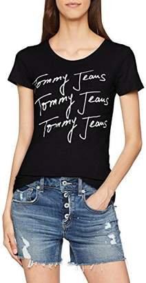 60719ae02 Tommy Hilfiger Tommy Jeans Women's T Shirt Short Sleeve Graphic Logo Tee  Slim Fit