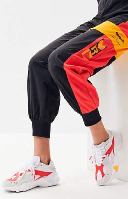 Reebok x Gigi Hadid White & Pink Aztrek Double Sneakers