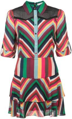 Alice + Olivia Alice+Olivia chevron stripe shirt dress
