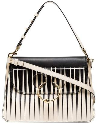 J.W.Anderson monochrome striped Pierce medium shoulder bag