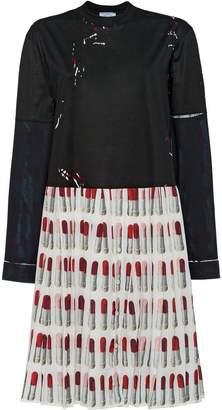 Prada Print jersey dress