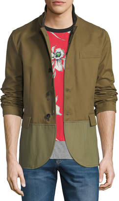 Valentino Men's Two-Tone Caban Jacket