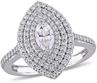 MODERN BRIDE Womens 1 CT. T.W. Marquise White Diamond 14K Gold Engagement Ring