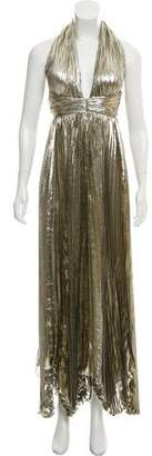Maria Lucia Hohan Metallic Maxi Dress