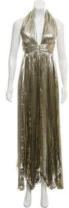 Maria Lucia Hohan Metallic Maxi Dress