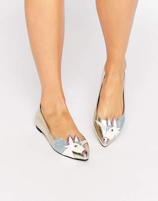 ASOS LULAMOON Unicorn Ballet Flats $40 thestylecure.com