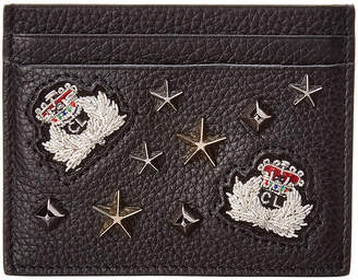 Christian Louboutin Kios Embellished Leather Card Holder