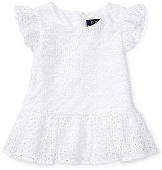 Ralph Lauren Childrenswear Baby Girls Baby Girls Eyelet Top $35 thestylecure.com