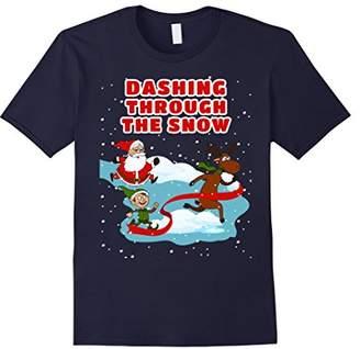 Dashing Through The Snow - Christmas Athlete Sportsman Shirt