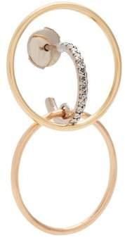 Charlotte Chesnais Fine Jewellery - Galilea Small Diamond & Gold Single Earring - Womens - Gold