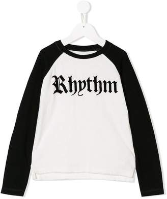 Zadig & Voltaire Kids rhythm print raglan T-shirt