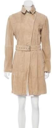 Brunello Cucinelli Suede Belted Coat
