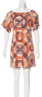 Alice + Olivia Silk Printed Mini Dress
