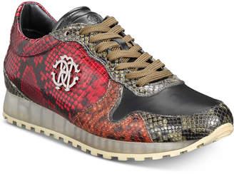 Roberto Cavalli Men's Snakeskin Lace-Up Sneakers Men's Shoes
