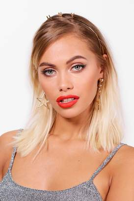 boohoo Mia Happy New Year Slogan Metal Headband