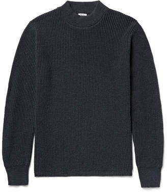 SAVE KHAKI UNITED Shaker Ribbed Cotton-Blend Mock-Neck Sweater