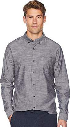 Hurley Men's One & Only Textured Long Sleeve Button Up