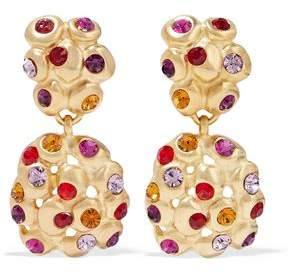 Ben-Amun 24-Karat Gold-Plated Crystal Clip Earrings