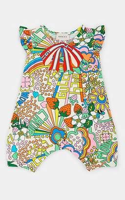 Gucci Infants' Logo-Print Cotton-Blend Piqué Romper