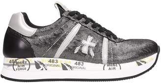 Premiata Conny Laminated Silver Sneakers
