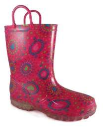 Wonder Nation Girls' Light Up Rain Boot