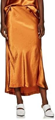 Sies Marjan Women's Xael Washed Satin Bias-Cut Midi-Skirt