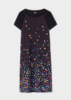 Paul Smith Women's Black 'Marble' Print Jersey Dress
