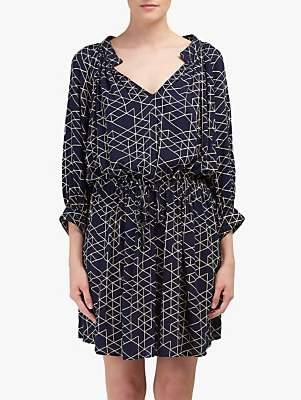 Velvet by Graham & Spencer Morgan Quilt Print Dress, Navy