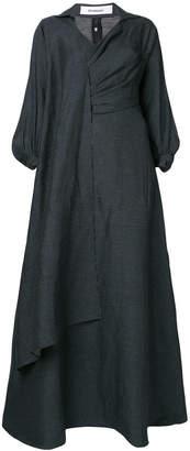Chalayan long draped waist dress