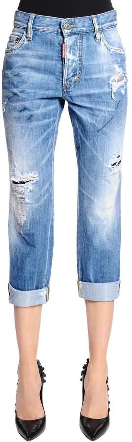 Jeans Aus Denim Mit Rissen