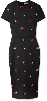 Victoria Beckham Floral-jacquard Dress - Black