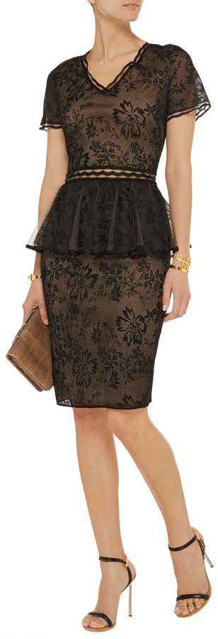 Zac Posen Embroidered tulle dress