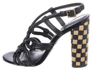 Tory Burch Leather Crossover Sandals