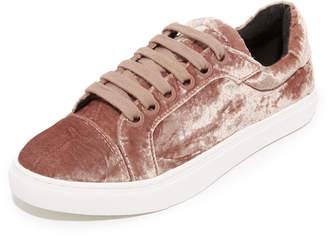Rebecca Minkoff Bleecker Too Velvet Sneakers $150 thestylecure.com