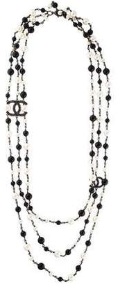 Chanel Faux Pearl Multistrand Necklace