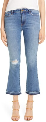 Frame Le Crop Mini Boot High Waist Release Hem Jeans