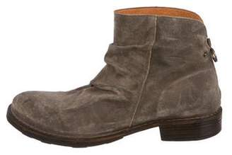 Florentini + Baker Suede Zip Ankle Boots