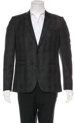 Givenchy Plaid Virgin Wool Blazer
