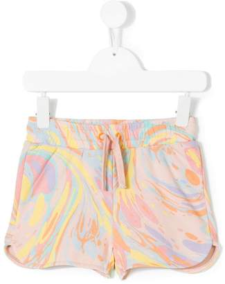 Stella McCartney Beryl marble-print shorts