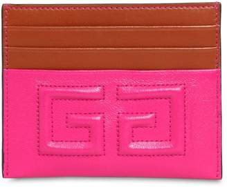 Givenchy Emblem Leather Card Holder