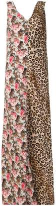 Alberto Biani split print maxi dress