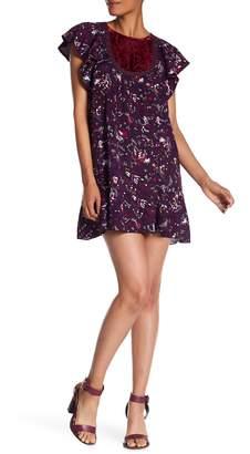 Anna Sui Fairy Fields Crepe Dress